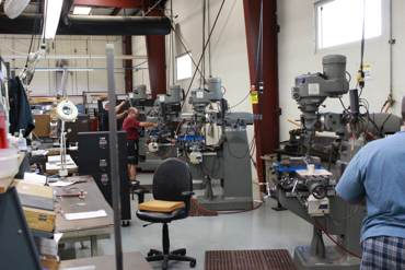 Waveguide Machine Shop at Advanced Microwave Components